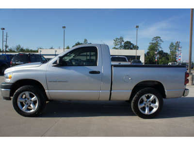 dodge ram 1500 2007 silver pickup truck st gasoline 6 cylinders 2 wheel drive automatic 77338