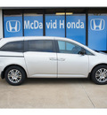 honda odyssey 2012 silver van ex gasoline 6 cylinders front wheel drive automatic 77034