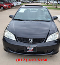 honda civic 2004 black coupe ex gasoline 4 cylinders front wheel drive automatic 76051