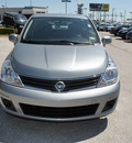 nissan versa 2012 dk  gray hatchback 1 8 s gasoline 4 cylinders front wheel drive automatic 76011