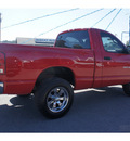 dodge ram 1500 2003 red pickup truck gasoline 8 cylinders 4 wheel drive automatic 78654