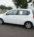 chevrolet aveo 2011 white hatchback aveo5 lt gasoline 4 cylinders front wheel drive automatic 19153