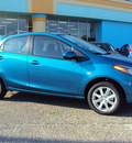 mazda mazda2 2012 blue hatchback touring gasoline 4 cylinders front wheel drive automatic 32901