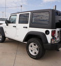 jeep wrangler unlimited 2013 white suv sport gasoline 6 cylinders 4 wheel drive automatic 76230