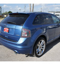ford edge 2010 blue suv sport gasoline 6 cylinders front wheel drive automatic 78550
