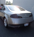 infiniti g35 2006 gray coupe gasoline 6 cylinders rear wheel drive automatic 98371