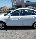 hyundai accent 2009 white sedan gls gasoline 4 cylinders front wheel drive automatic 94010