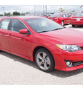 toyota camry 2012 red sedan se sport limited edition gasoline 4 cylinders front wheel drive automatic 77074
