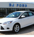 ford focus 2013 white sedan se flex fuel 4 cylinders front wheel drive automatic 77575