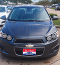 chevrolet sonic 2013 gray sedan lt gasoline 4 cylinders front wheel drive shiftable automatic 77566