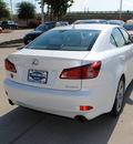 lexus is 250 2012 white sedan gasoline 6 cylinders rear wheel drive automatic 75070