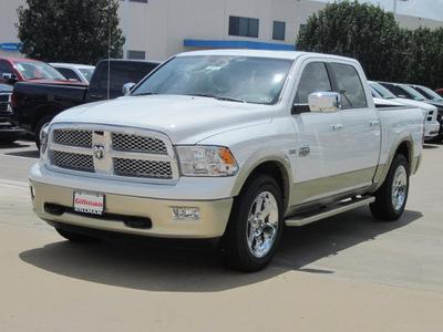 ram ram pickup 1500 2012 white laramie longhorn gasoline 8 cylinders 2 wheel drive 6 speed automatic 77099