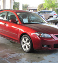 mazda mazda3 2009 dk  red sedan i touring value gasoline 4 cylinders front wheel drive shiftable automatic 77477