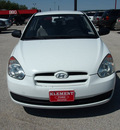 hyundai accent 2009 white hatchback gs gasoline 4 cylinders front wheel drive automatic 76234