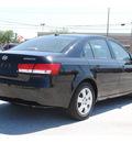 hyundai sonata 2007 black sedan gls gasoline 4 cylinders front wheel drive automatic 77023