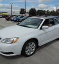 chrysler 200 convertible 2013 white touring flex fuel 6 cylinders front wheel drive automatic 34731