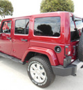 jeep wrangler unlimited 2013 red suv sahara gasoline 6 cylinders 4 wheel drive automatic 34731