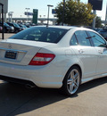 mercedes benz c class 2009 white sedan c300 luxury gasoline 6 cylinders rear wheel drive shiftable automatic 77074