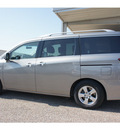 nissan quest 2011 lt  gray van 3 5 sv gasoline 6 cylinders front wheel drive automatic 76543