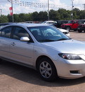 mazda mazda3 2009 silver sedan i sport gasoline 4 cylinders front wheel drive shiftable automatic 77515
