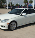 mercedes benz c class 2009 white sedan c300 luxury 6 cylinders autostick 77065