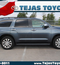 toyota sequoia 2010 gray suv limited gasoline 8 cylinders 2 wheel drive automatic 77338