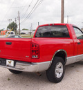 dodge ram 1500 2003 red pickup truck st gasoline 8 cylinders rear wheel drive automatic 77531