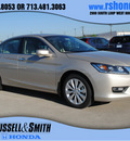 honda accord 2013 champagne frost sedan ex l gasoline 6 cylinders front wheel drive automatic 77025