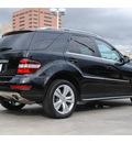 mercedes benz m class 2011 black suv ml350 gasoline 6 cylinders rear wheel drive automatic 77002