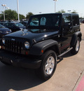 jeep wrangler 2010 black suv sport gasoline 6 cylinders 4 wheel drive automatic 75093