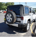 jeep wrangler unlimited 2008 bright silver suv sahara gasoline 6 cylinders 4 wheel drive automatic with overdrive 07724