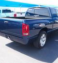 dodge ram 1500 2005 blue pickup truck laramie 8 cylinders automatic 76234