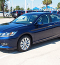 honda accord 2013 obsidian blue pearl sedan ex l gasoline 4 cylinders front wheel drive automatic 77065