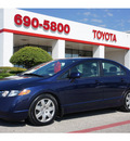 honda civic 2008 blue sedan lx gasoline 4 cylinders front wheel drive automatic 76543