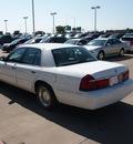 mercury grand marquis 2001 white sedan ls gasoline 8 cylinders rear wheel drive automatic 76053