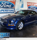ford mustang 2008 lt  blue gt premium 8 cylinders 6 speed manual 75062