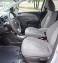 chevrolet sonic 2013 silver ice metallic sedan ls 4 cylinders automatic 78028