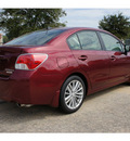 subaru impreza 2012 red sedan 2 0i premium gasoline 4 cylinders all whee drive automatic 77099