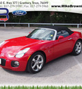 pontiac solstice 2009 red gxp gasoline 4 cylinders rear wheel drive automatic 76049