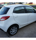 mazda mazda2 2012 white hatchback sport gasoline 4 cylinders front wheel drive automatic 78757