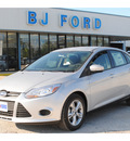 ford focus 2013 silver sedan se flex fuel 4 cylinders front wheel drive manual 77575