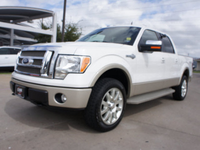 ford f 150 2010 white king ranch flex fuel 8 cylinders 4 wheel drive automatic with overdrive 76049
