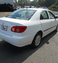 toyota corolla 2007 white sedan ce gasoline 4 cylinders front wheel drive automatic 75672