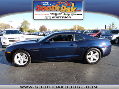 chevrolet camaro 2011 blue coupe lt gasoline 6 cylinders rear wheel drive automatic 60443