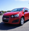 chevrolet sonic 2013 red sedan lt 4 cylinders automatic 27330