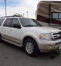 ford expedition el 2010 white suv eddie bauer 8 cylinders automatic with overdrive 99352