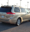 toyota sienna 2011 tan van xle 8 passenger gasoline 6 cylinders front wheel drive automatic with overdrive 77074