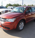 dodge journey 2013 brown american value package gasoline 4 cylinders front wheel drive automatic 77388