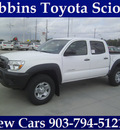 toyota tacoma 2013 white v6 gasoline 6 cylinders 4 wheel drive automatic 75569