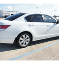 honda accord 2010 white sedan ex l gasoline 4 cylinders front wheel drive automatic 77034